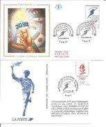 Jeux Olympiques   1991   Parcours De La Flamme Avec Feuille Explicative - 1990-1999