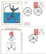 Jeux Olympiques   1991  Ski Artistique Tignes Avec Feuille Explicative - 1990-1999