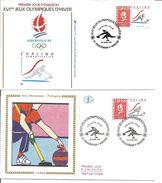 Jeux Olympiques   1991  Curling Pralognan Avec Feuille Explicative - 1990-1999
