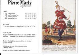 CALENDRIER 1988 - PIERRE MARLY -OPTICIEN - FAISEUR DE LUNETTES - MARCHAND AMBULANT  (ouvert 10.5 X 14.5) - Calendriers