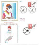 Jeux Olympiques   1991  Saut Courchevel Avec Feuille Explicative - 1990-1999