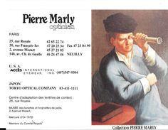 CALENDRIER 1992 - PIERRE MARLY -OPTICIEN - HOMME A LA LONGUE VUE (lunette)  (ouvert 10.5 X 14.5) - Calendriers