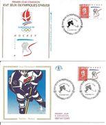 Jeux Olympiques   1991  Hockey Méribel Avec Feuille Explicative - 1990-1999