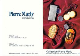 CALENDRIER 1981 - PIERRE MARLY -OPTICIEN - ENSEMBLE DE BESICLES XVII Et XVIIIe   (ouvert 10.5 X 14.5) - Calendriers