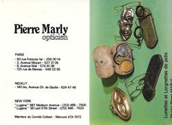 CALENDRIER 1979 - PIERRE MARLY -OPTICIEN - LUNETTES ET LORGNETTES DE JADIS   (ouvert 10.5 X 14.5) - Small : 1971-80