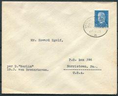 1931 Germany Deutsche Seepost Ship Cover Bremerhaven 'BERLIN' - Deutschland