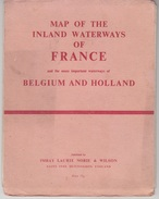 MAP OF THE INLAND WATERWAYS OF FRANCE - BELGIUM AND HOLLAND - Roadmaps