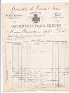 ANNEE 1884 / LYON / CARAMBOIS ET SEGUIN / SPECIALITE DE TISSUS NOIRS / 9 QUAI DE RETZ - Textile & Vestimentaire