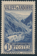 ANDORRA 1937- 43 GORGE DE ST. JULIA 1F - Yvert 75**MNH - French Andorra