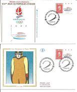Jeux Olympiques   1991 Luge La Plagne Avec Feuille Explicative - 1990-1999
