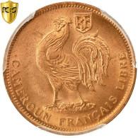 Monnaie, Cameroun, 50 Centimes, 1943, Pretoria, PCGS, MS66RD, FDC, Bronze, KM:6 - Cameroon