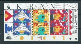 1993 Netherlands Complete M/Sheet Child Welfare Used/gebruikt/oblitere - Blokken