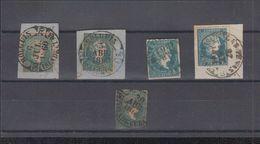 FICHA CON SELLOS MATASELLOS FECHADORES - Cuba (1874-1898)