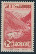 ANDORRA 1937- 43 GORGE DE ST. JULIA 1,50 - Yvert 79**MNH - French Andorra