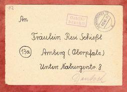 Briefvorderseite, Gebuehr Bezahlt, OT Saarbruecken, Nach Amberg, 4.12.1946? (45209) - Französische Zone
