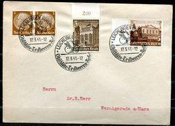 """German Empires 1941Heimatbeleg/Cover Leichlingen,Rheinl.1941 Mit Mi.751 MIF U.SST""""Leichlingen-Obstblüte,Erdbeer.""""1 Beleg - Lettres"""