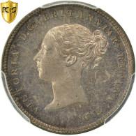 Monnaie, Grande-Bretagne, Victoria, 4 Pence, Groat, 1871, PCGS, PL65, Argent - 1816-1901 : Frappes XIX° S.