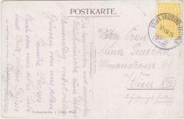 """AUSTRIA 1924 (10.8.) ART PC (Wolfsberg Castle) RAILW.PM """"Unter Drauburg-Zeltweg"""" - Autriche"""