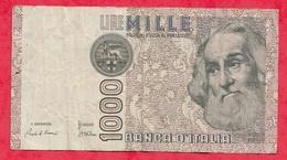 Italie 1000 Lire  06/01/1982  Sign # F/TTB+ - [ 2] 1946-… : Républic