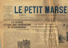 ** JOURNAL ** LE PETIT MARSEILLAIS ** 2ème ÉDITION DU ** MARDI 10 AVRIL 1934 ** - Le Petit Marseillais