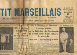 ** JOURNAL ** LE PETIT MARSEILLAIS ** 2ème ÉDITION DU ** DIMANCHE 08 AVRIL 1934 ** - Le Petit Marseillais