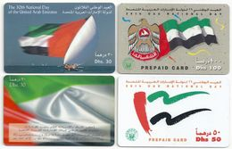 UAE - 4 UAE National Day Remotes, All Used - United Arab Emirates