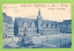 AK Leipzig - Markt - Gelaufen Am 1.12.1898 - Leipzig