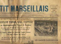 ** JOURNAL ** LE PETIT MARSEILLAIS ** 2ème ÉDITION DU ** MERCREDI 14 MARS 1934 ** - Zeitungen