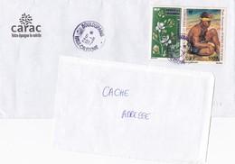 Lettre Pour La France Nouvelle Caledonie Boulouparis Obliteration Poste Aerienne Timbre - Covers & Documents