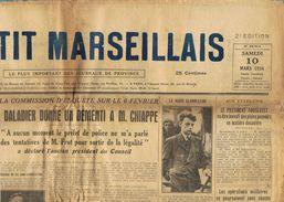 ** JOURNAL ** LE PETIT MARSEILLAIS ** 2ème ÉDITION DU ** SAMEDI 10 MARS 1934 ** - Le Petit Marseillais