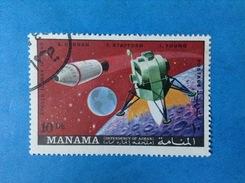 MANAMA FRANCOBOLLO USATO STAMP USED SPAZIO MISSIONE APOLLO 10 - Space