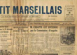 ** JOURNAL ** LE PETIT MARSEILLAIS ** 2ème ÉDITION DU ** JEUDI 08 MARS 1934 ** - Journaux - Quotidiens
