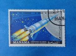 MANAMA FRANCOBOLLO USATO STAMP USED SPAZIO MISSIONE APOLLO 12 - Space