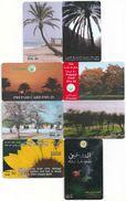 UAE - 8 Flowers And Trees Remotes, All Used - United Arab Emirates