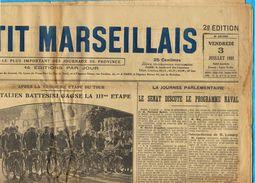 ** JOURNAL ** LE PETIT MARSEILLAIS ** 2ème ÉDITION DU ** VENDREDI 03 JUILLET 1931 ** - Le Petit Marseillais