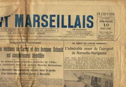 ** JOURNAL ** LE PETIT MARSEILLAIS ** 2ème ÉDITION DU ** DIMANCHE 10 MAI 1931 ** - Zeitungen