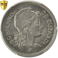 Monnaie, SPAIN CIVIL WAR, EUZKADI, Peseta, 1937, Bruxelles, PCGS, MS66, KM:1 - Zone Nationaliste