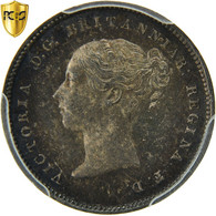 Monnaie, Grande-Bretagne, Victoria, 4 Pence, Groat, 1873, PCGS, PL65, Argent - 1816-1901 : Frappes XIX° S.