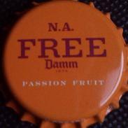 Damm Free Passion Fruit Export To Qatar + Saudi Arabia Bier Kronkorken Beer Bottle Crown Cap Chapa Cerveza Capsule Biere - Beer