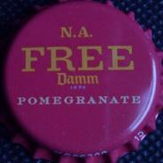 Damm Free N.A. Pomegranate Export Qatar + Saudi Arabia Bier Kronkorken Beer Bottle Crown Cap Chapa Cerveza Capsule Biere - Beer