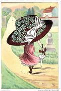 Jolie Illustration - Mode - Femme Et Grand Chapeau - N° 909 - 2 Scans - Mode