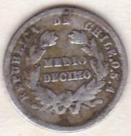 Chile . 1/2 (medio) Decimo 1879 . Argent . KM# 137.3 - Chili