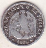 Chile . 20 Centavos 1866 . Argent. KM# 135 - Chile