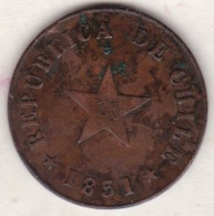 Chile. 1 Centavo 1851 . Copper. KM# 119 - Chili