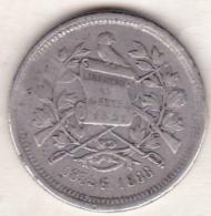 Guatemala . 25 Centavos 1888 G . Argent . KM# 205.1 - Guatemala