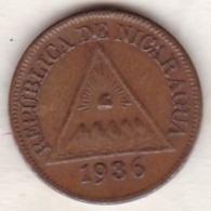 Nicaragua  . 1/2 (Mezzo) Centavo 1936 . Bronze.  KM# 10 - Nicaragua