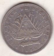 Nicaragua  . 20 Centavo 1880 . Argent.  KM# 4 - Nicaragua