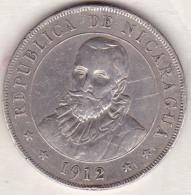 Nicaragua  . 1 Cordoba 1912 H. Argent.  KM# 16. Rare - Nicaragua
