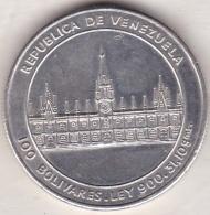 Venezuela . 100 Bolivares 1986 . 200th Anniversary - Birth Of Jose M. Vargas. Argent . Y# 60 - Venezuela