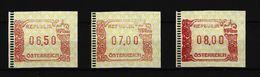 ÖSTERREICH - 3 Verschiedene ATM - Ausgabe 1999 Postfrisch (1) - 1981-90 Ungebraucht